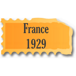 Timbres France neufs 1929...