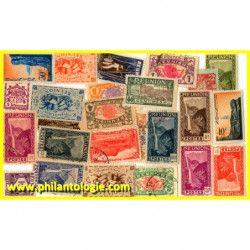 La Réunion timbres de collection tous différents.