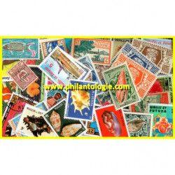 Wallis et Futuna timbres de collection tous différents.
