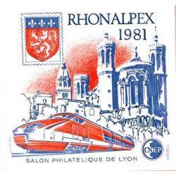 Bloc C.N.E.P. N°2 Rhonalpex 1981 neuf** TB.