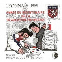 Bloc C.N.E.P. N°11 Lyonnais 1989 surchargé neuf** TB.