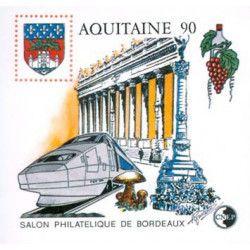 Bloc C.N.E.P. N°12 Aquitaine 1990 neuf** TB.