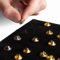Feuilles en velours noir pour album pin's.