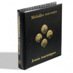 Album Optima pour 75 médailles souvenirs, jetons touristiques.