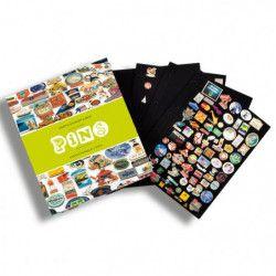 Album illustré pour collectionner 400 pin's.