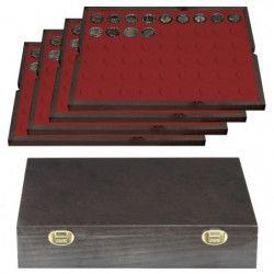 Coffret en bois massif Carus pour 216 pièces de 2 euros.