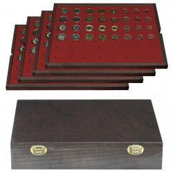 Coffret en bois massif Carus pour 24 séries d'euro.