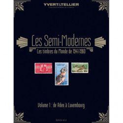 """Catalogue Yvert et Tellier """"Timbres Semi modernes du monde"""" Aden à Luxembourg."""