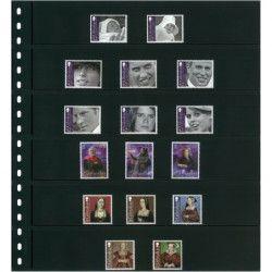 Feuilles de classement Omnia Lindner à 6 bandes pour timbres-poste.