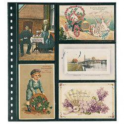 Feuilles de classement Omnia Lindner pour 10 cartes postales anciennes.