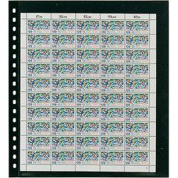 Feuilles de classement Omnia Lindner pour feuillets entiers de timbres.