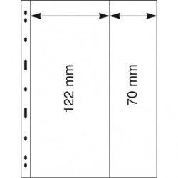 Feuilles Uniplate Lindner transparentes à 2 bandes pour carnets de timbres-postes.
