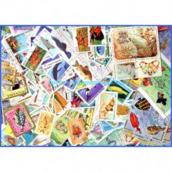 Faune marine 1000 timbres thématiques tous différents.