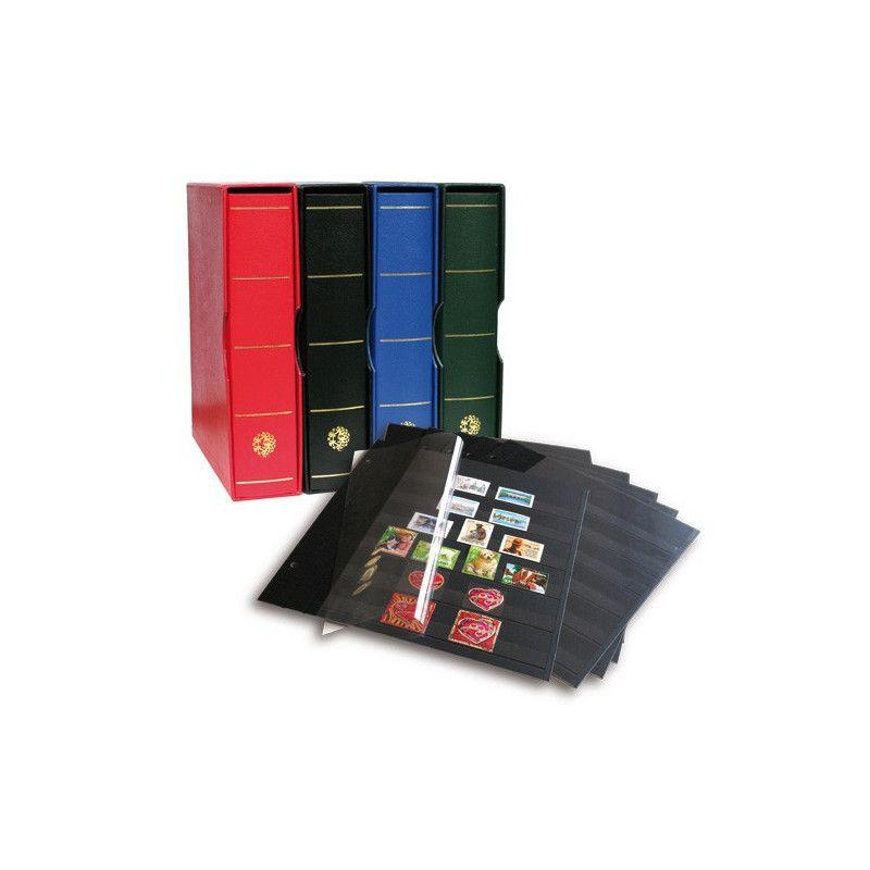 Album Futura Classique garni de 10 recharges C80 à 6 bandes pour timbres-poste.