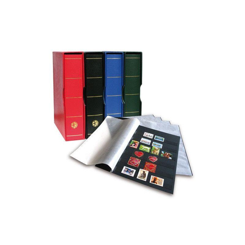 Album Futura Classique garni de 10 recharges C50 à 6 bandes pour timbres-poste.