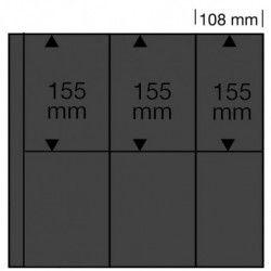 Feuilles noires SAFE 6021 pour cartes postales modernes verticales.