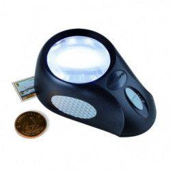 Loupe à poser 65 mm lumineuse LED.