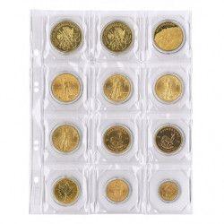 Feuilles numismatiques Multi-Collect pour 12 monnaies jusqu'à 50 mm.