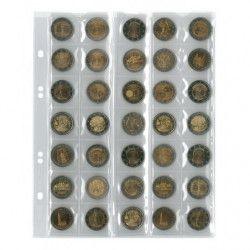 Feuilles numismatiques Multi-Collect pour 35 pièces de 2 euros.