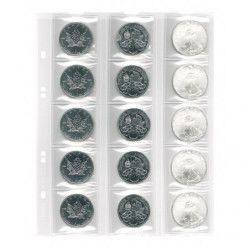 Feuilles numismatiques Multi-Collect pour 15 monnaies jusqu'à 42 mm.