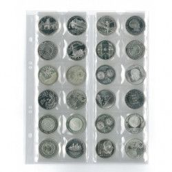 Feuilles numismatiques Multi-Collect pour 24 monnaies jusqu'à 34 mm.