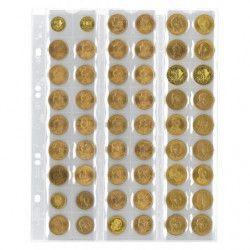 Feuilles numismatiques Multi-Collect pour 54 monnaies jusqu'à 20 mm.