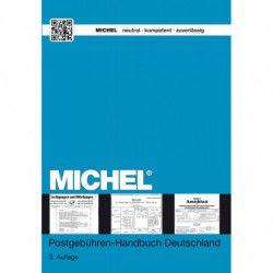 Catalogue de poche Michel tarifs postaux Allemagne.
