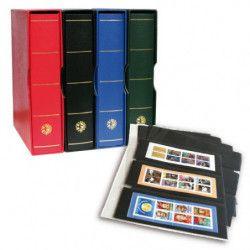 Album Futura Classique garni de 10 recharges E3 à 3 poches pour carnets de timbres.