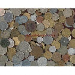 Monnaies anciennes du monde, paquet 1 kilo.