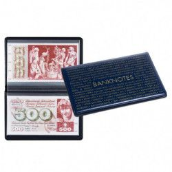 Album de poche pour billets de banque 210 x 125 mm.