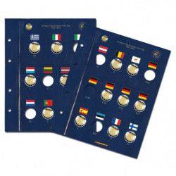 Feuilles Vista pour 2 euros commémoratives 30 ans du drapeau européen.