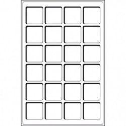 Plateaux numismatiques Leuchtturm format L à 24 cases carrées.