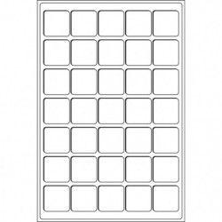 Plateaux numismatiques Leuchtturm format L à 35 cases carrées.
