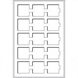 Plateaux numismatiques Leuchtturm format L à 15 cases carrées.
