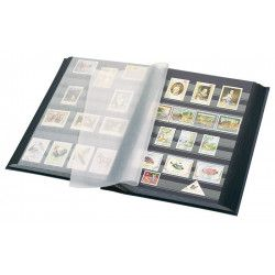 Classeur Lindner élégant pour timbres 60 pages noires.