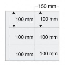 Feuilles transparentes SAFE 6241 pour cartes postales anciennes horizontales.
