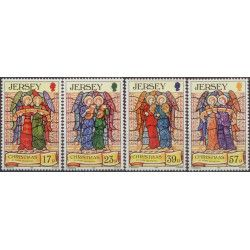 Anges de Jersey, Noêl 1993, timbres N°629-632 neuf** Tb.