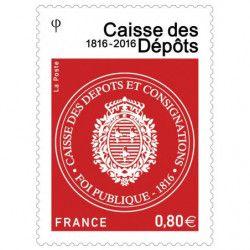 Bicentenaire de la Caisse des dépôts, timbre-poste neuf.