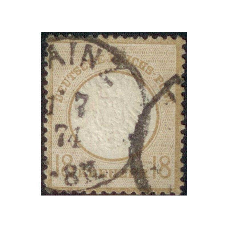 Allemagne Reich 1872 timbre N°25 oblitéré TB, R. Signé Scheller.