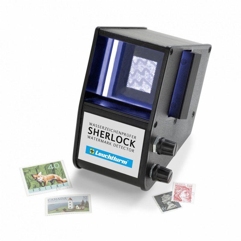 Détecteur de filigrane Sherlock pour timbres de collection.