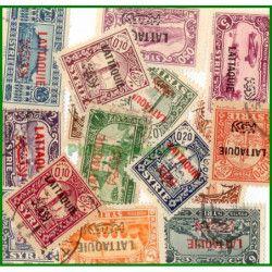 Lattaquie timbres de collection tous différents.