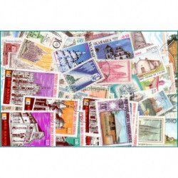 Eglises timbres thématiques tous différents.