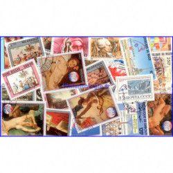 Bicentenaire de la révolution Française 25 timbres thématiques.