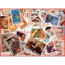 Bicentenaire des Etats Unis 50 timbres thématiques.