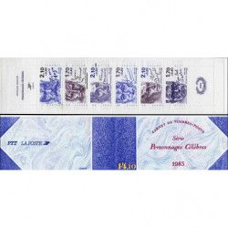Carnet commémoratif de timbres Personnages célèbres 1985.
