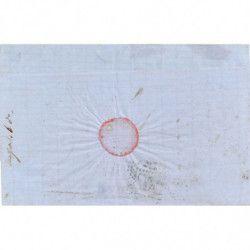 Turquie 1864 émission Toughra N°6 sur pli de Constantinople SUP, RR.