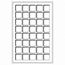 Plateaux numismatiques Leuchtturm format L à 40 cases carrées.