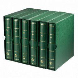 Album prestige pour timbres de France 1849-2020 en 8 reliures.