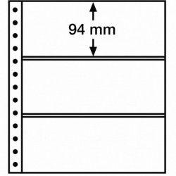 Feuille R Leuchturm à 3 bandes pour reliures à anneaux.