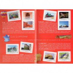 Collector de 10 timbres Lorraine 2011 non dentelés accidentels. RRR.